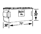 2 cubic yard front load container